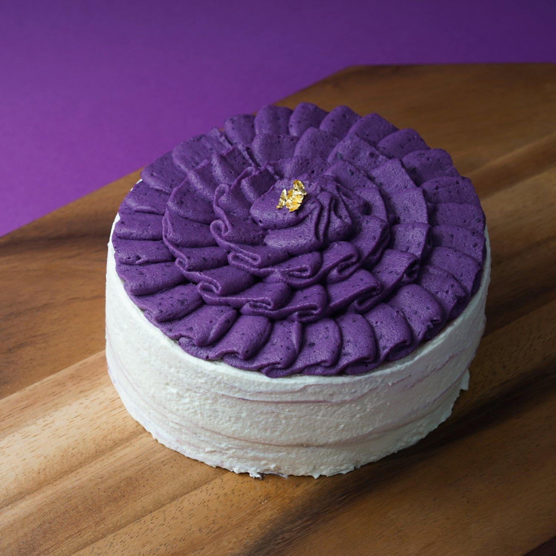 鹿兒島紫薯Parmesan 芝士千層蛋糕/Purple Potato Parmesan Crepe