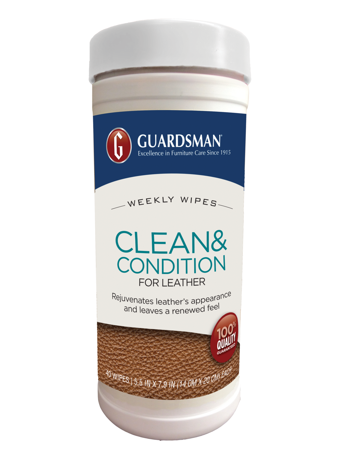 Guardsman Leather Clean & Condition Weekly Wipes