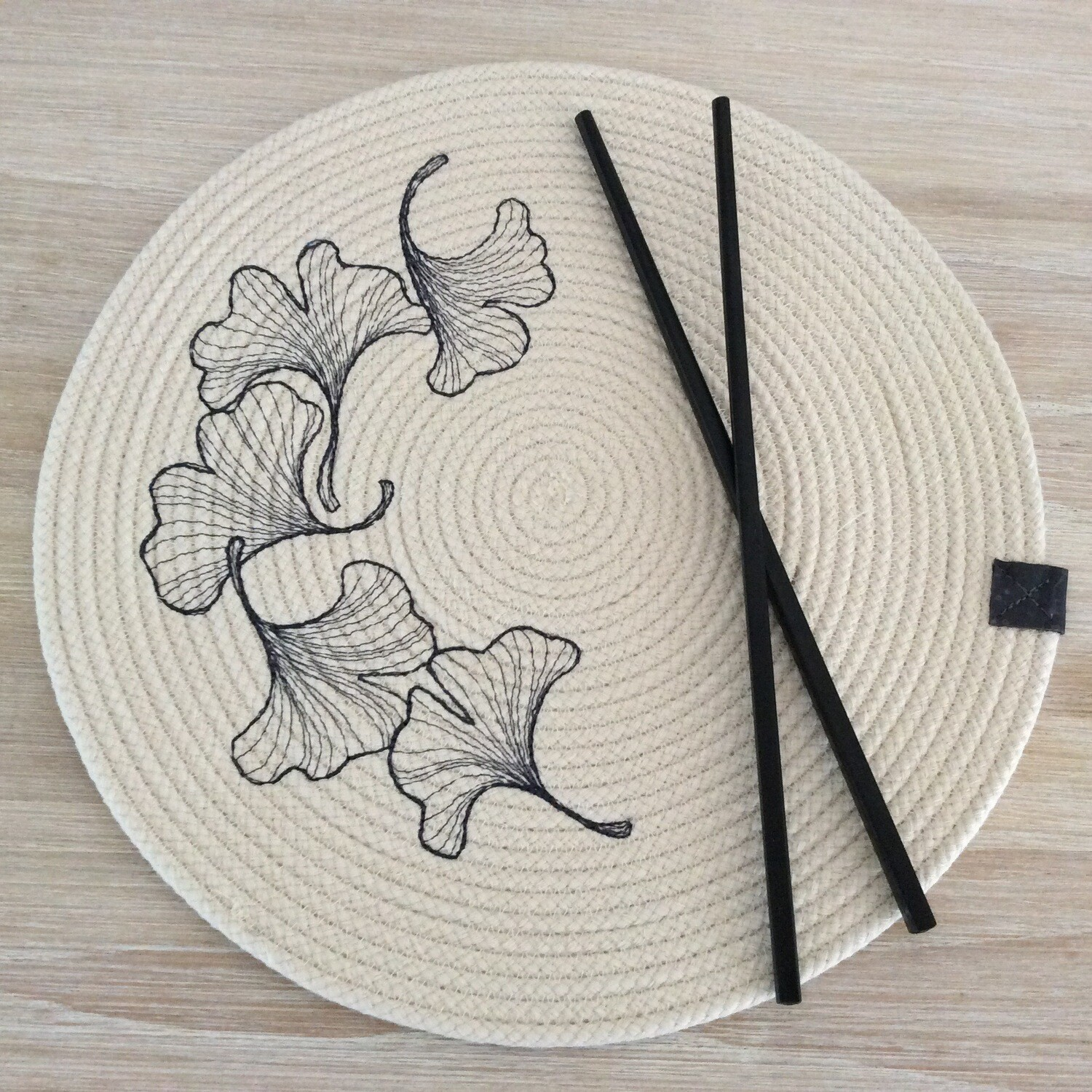 Embroidered Rope Placemats