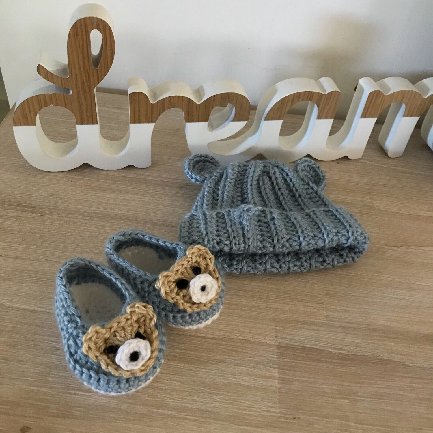 Little Ted Ribbed Beanie & Loafer Set