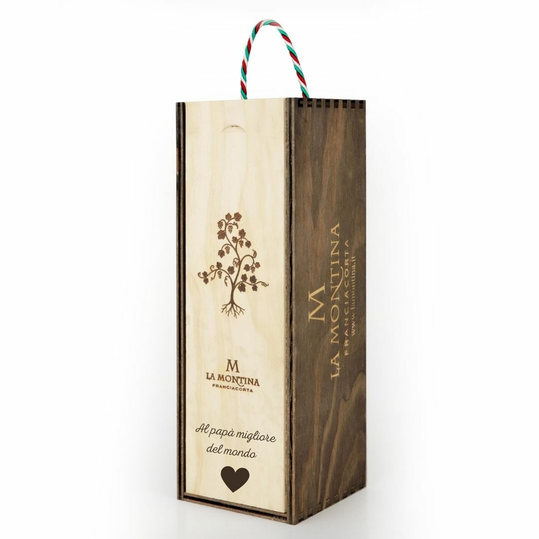 Bottiglia magnum in cassetta legno personalizzata