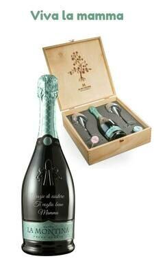 Confezione Cin Cin con bottiglia personalizzata