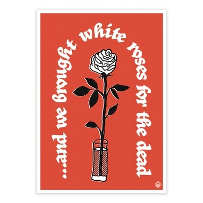 WHITE ROSES - Limited Edition, Signed A4 Print