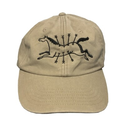 'FLYING GALLOP' Embroidered Cap - Stone