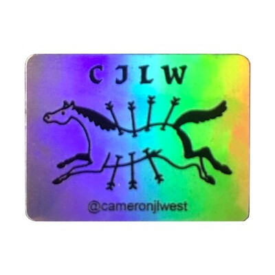 FLYING GALLOP - CHROME STICKER