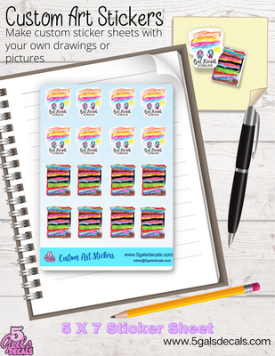 Create You're Own Art Stickers
