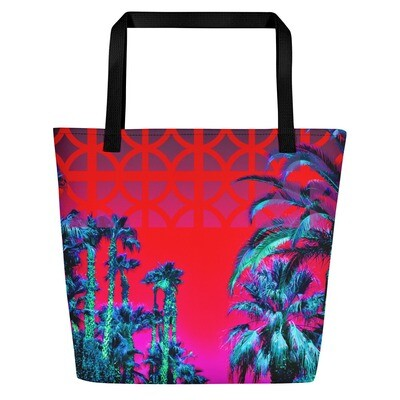 Palms Road Large Tote Bag