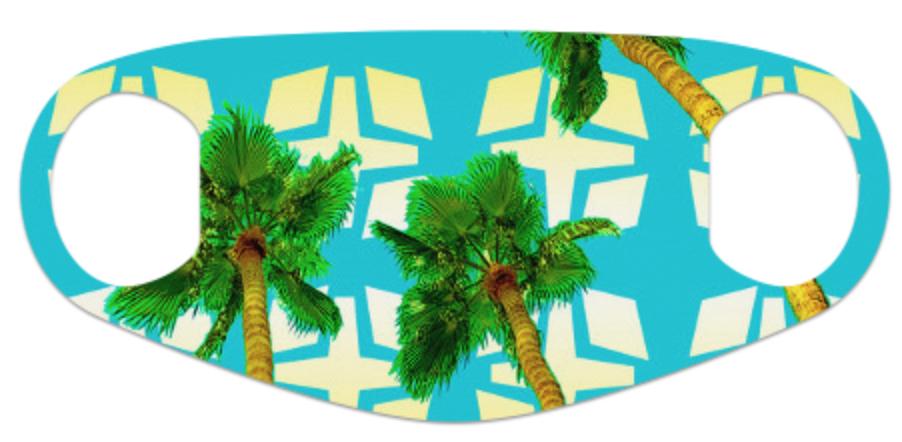 Aqua Palms Face Mask
