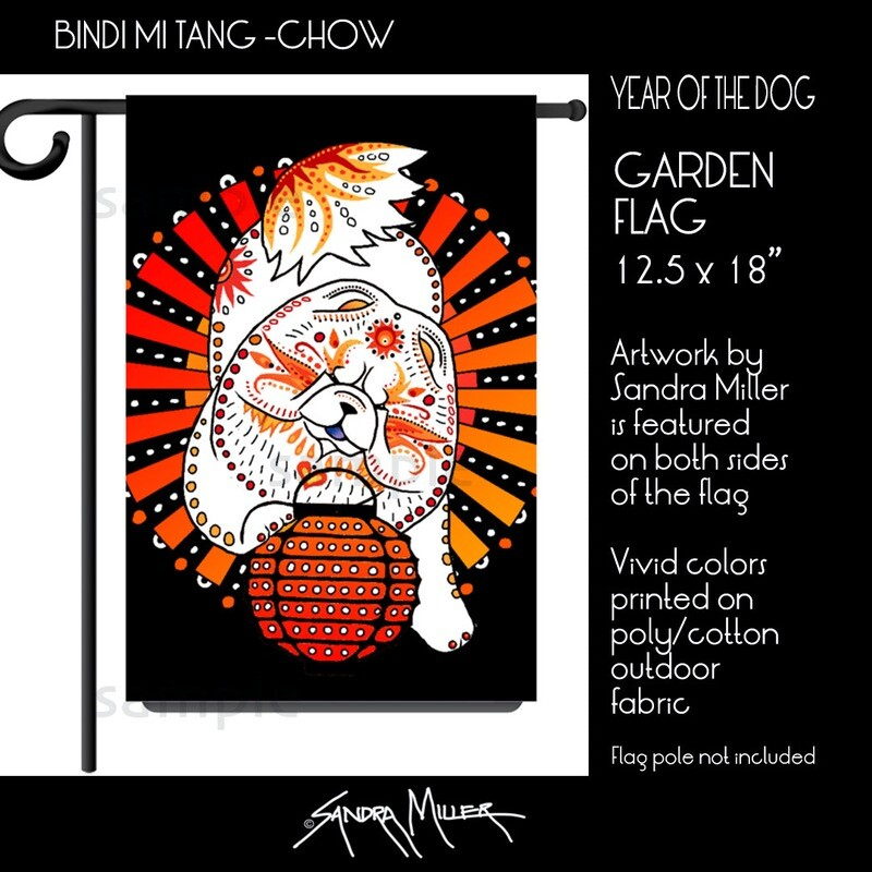 BINDI MI TANG Chow Art Flags in 2 sizes