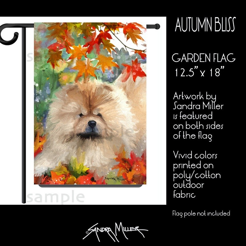 AUTUMN BLISS Chow Art Flags in 2 sizes