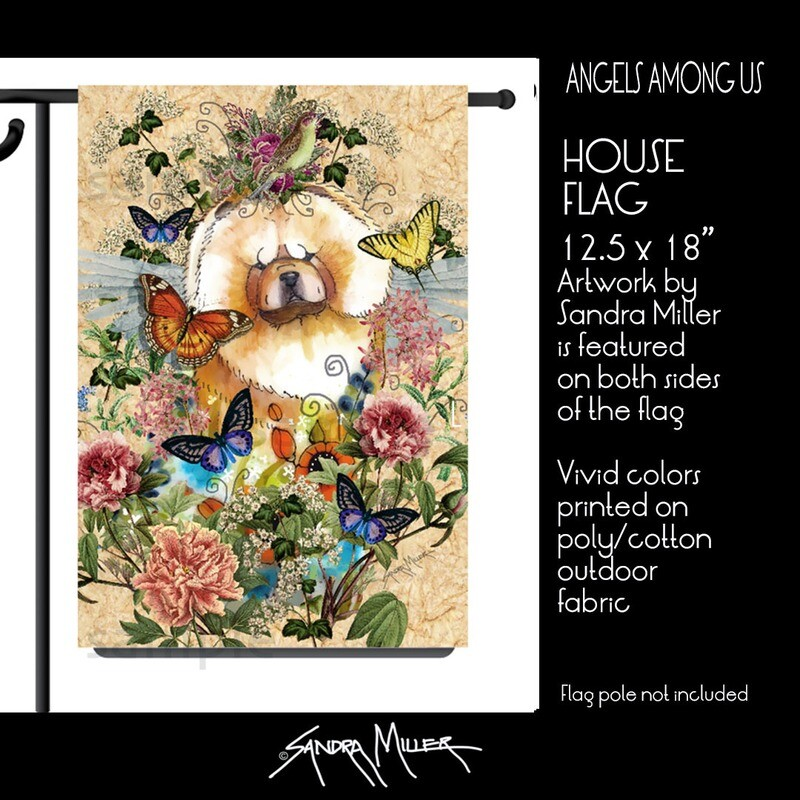 ANGELS AMONG US  Chow Art Flags in 2 sizes