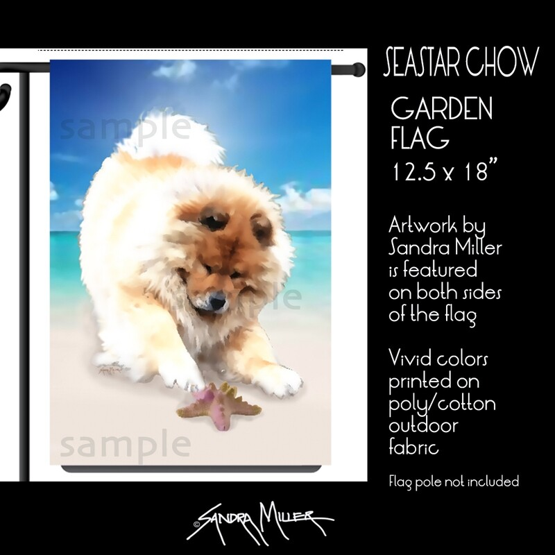 SEASTAR CHOW  Chow Art Flags in 2 sizes
