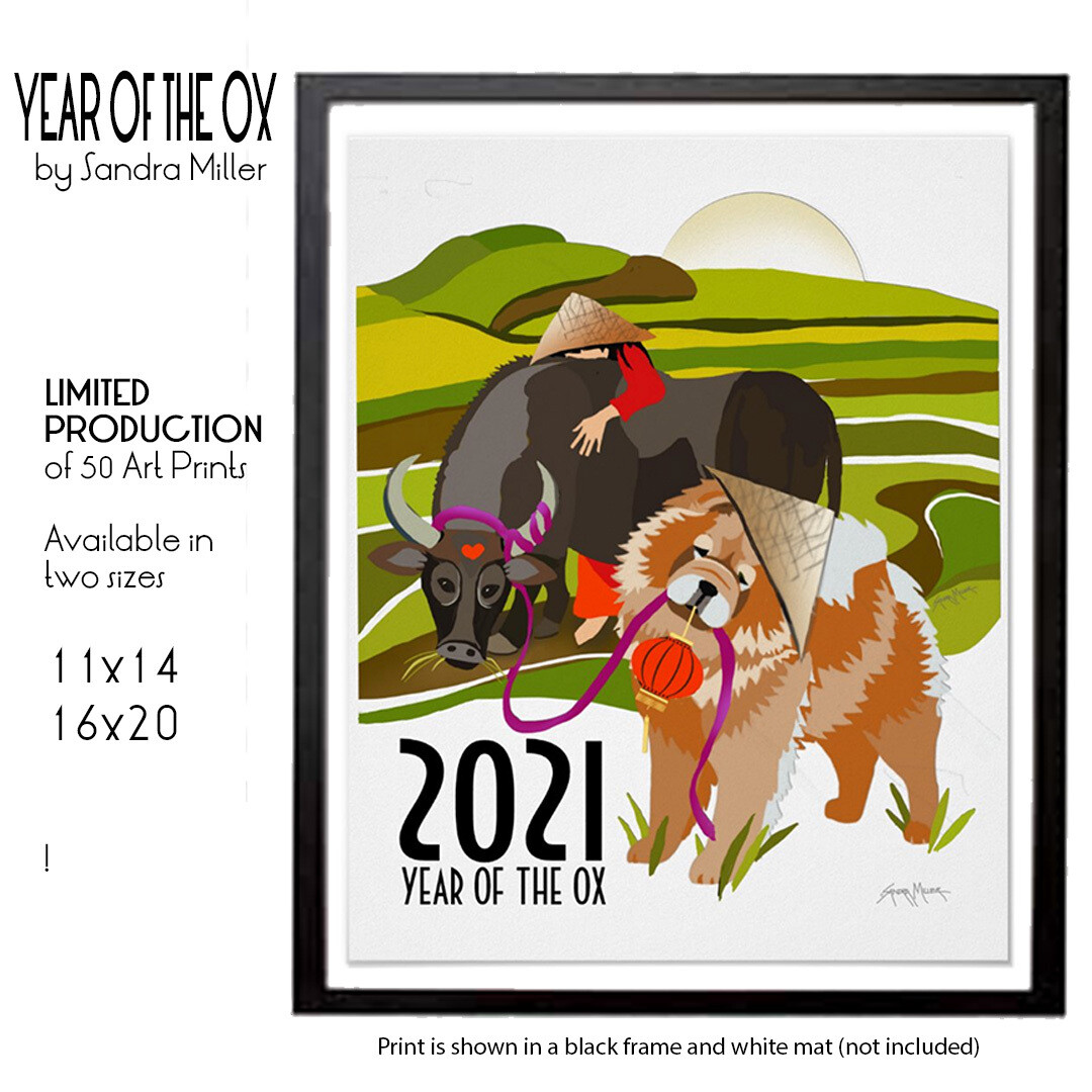 YEAR OF THE OX 2021  limited production chow print