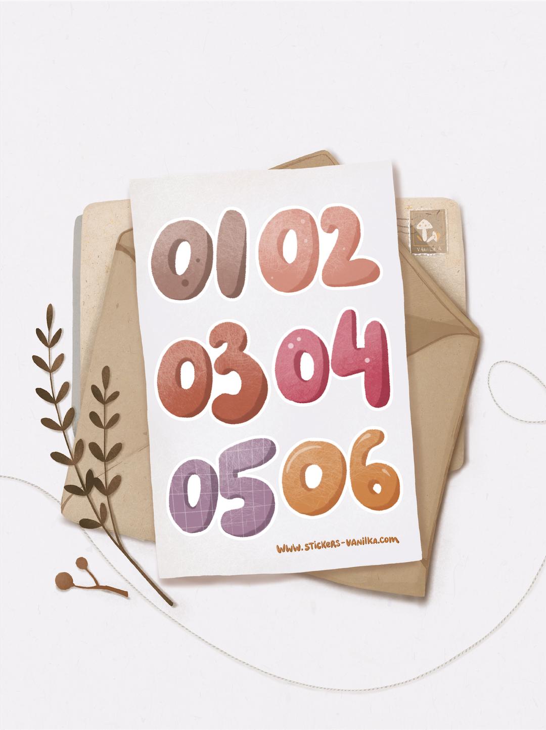 """Stickers """"Числа 1-6"""""""
