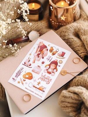 "Stickers ""Chloe — winter rose"""