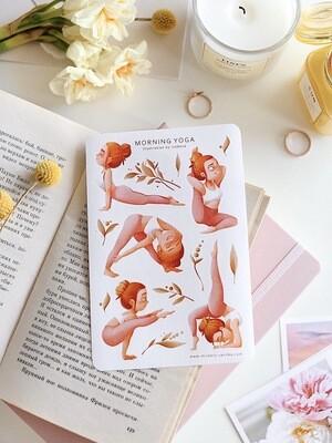 "Stickers ""Morning yoga"""