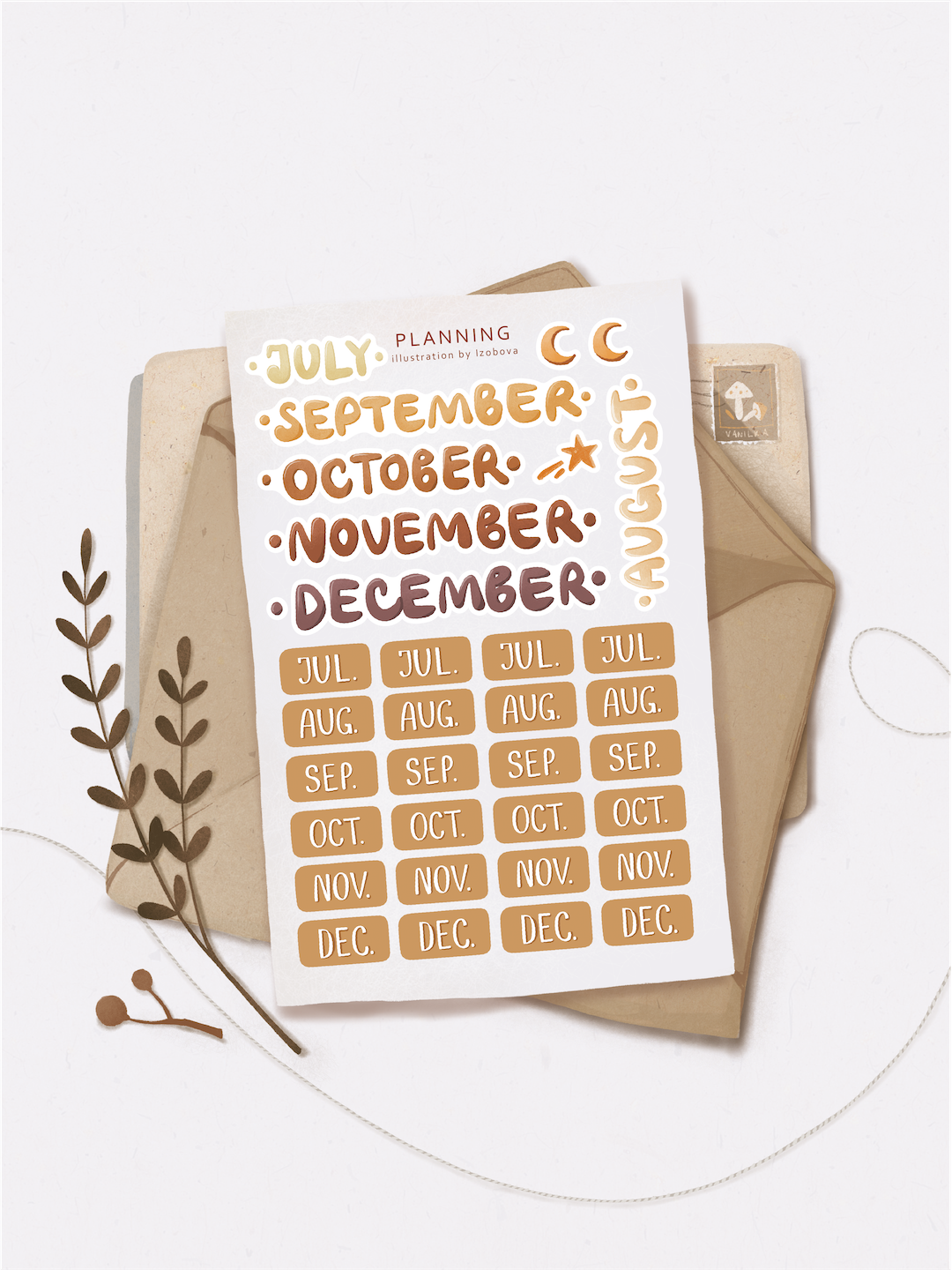 """Stickers """"July"""""""