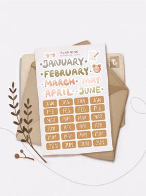 "Stickers ""January"""