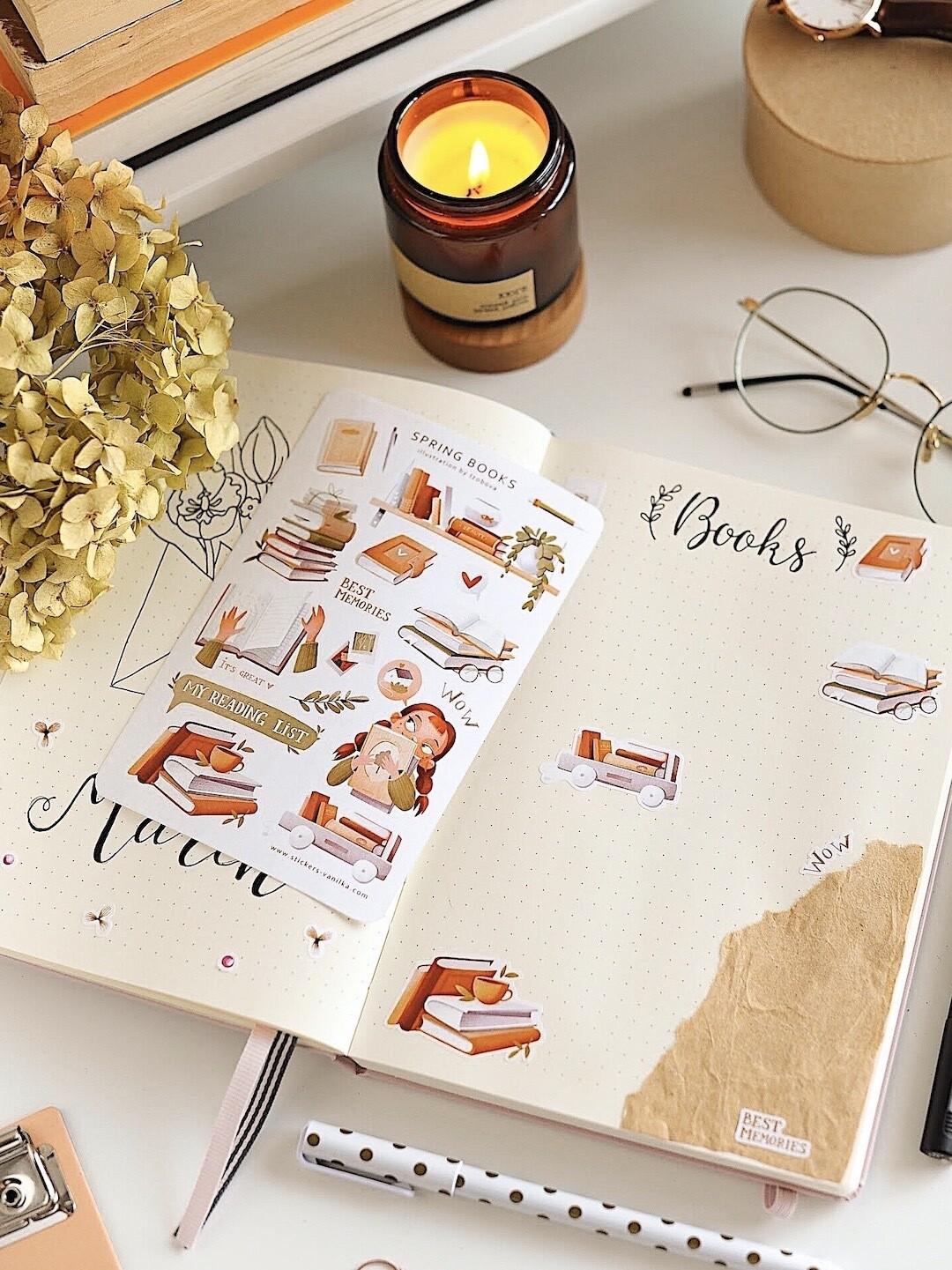 "Stickers ""Spring books"""