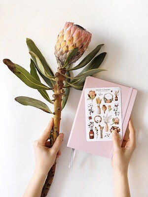 "Stickers ""Dried flowers"""