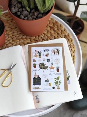 """Stickers  """"Gardening"""" - 2"""