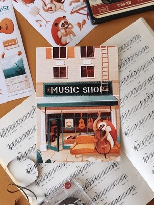 "Листівка ""Music shop"""