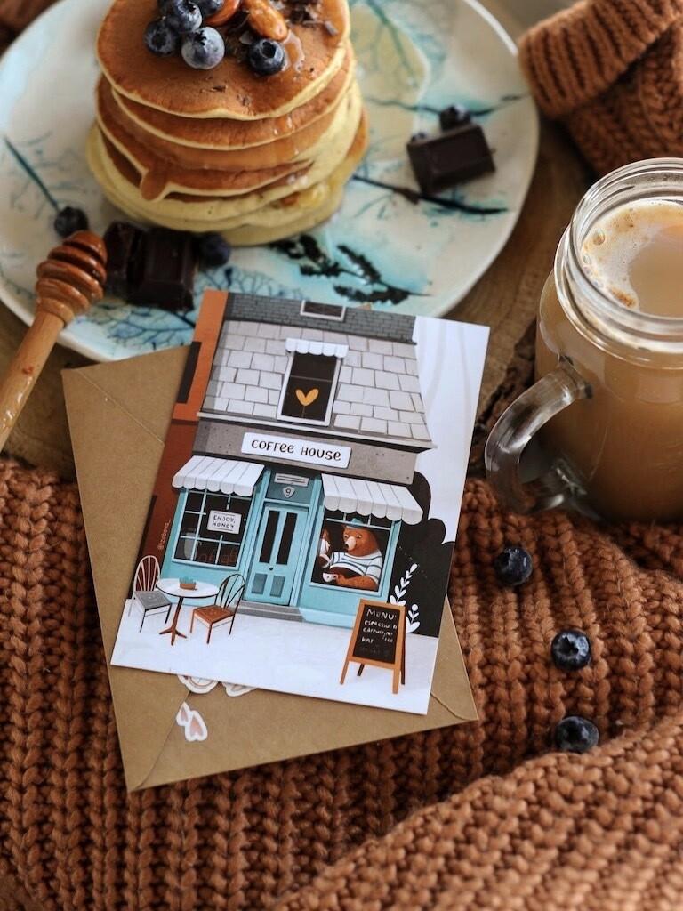 """Листівка """"Coffee house"""""""