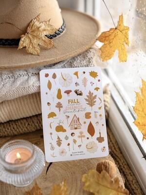 """Stickers """"Осенние листья и веточки"""" - 2"""