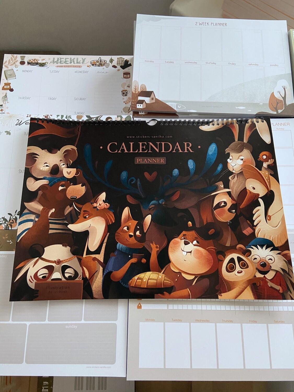 """Calendar-planner """"Витрины сказочного города"""" A3"""