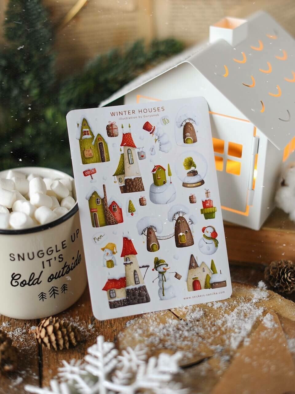 """Stickers """"Winter houses"""""""