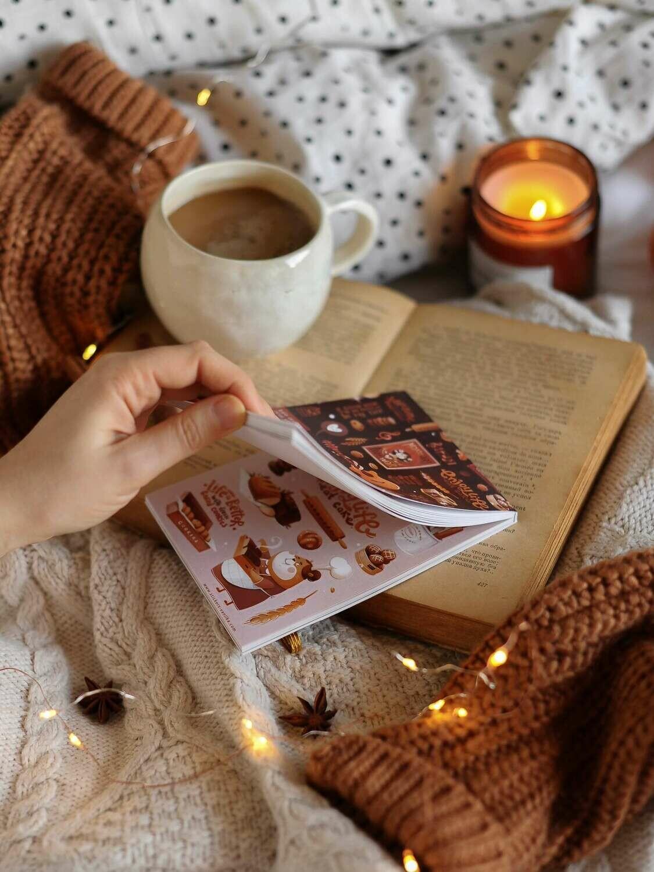 """Книга з наліпками """"Вітрини казкового міста"""""""