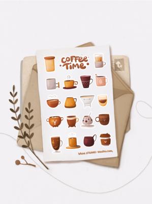 """Наліпки """"Coffee time"""""""