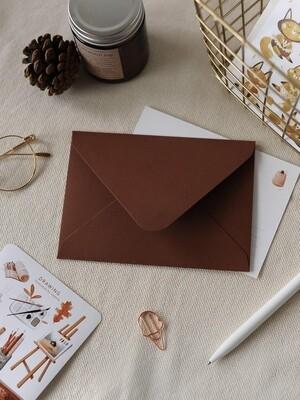 Дизайнерський конверт С6, коричневий