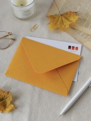 Дизайнерський конверт С6, помаранчевий