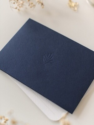 Дизайнерський конверт С6, синій