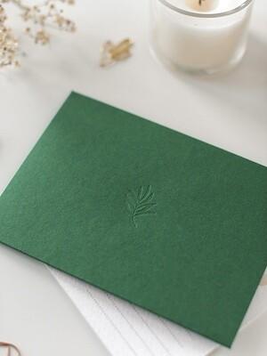 Дизайнерський конверт С6, зелений