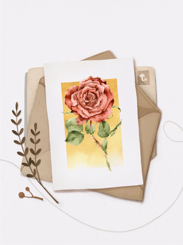 """Листівка """"Троянда"""""""