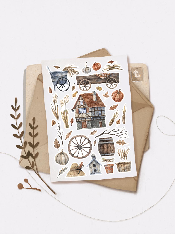 "Наліпки ""Cozy autumn time"""