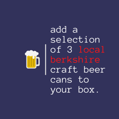 3 X LOCAL BERKSHIRE CRAFT BEERS (ONLY TO BE PURCHASED ALONGSIDE A BOX)