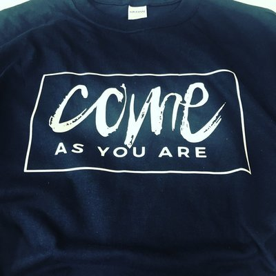 Come As You Are T Shirt - Navy