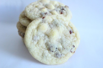 White Chocolate Cranberry Cookies 2 Dozen
