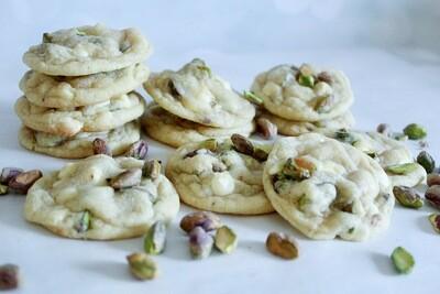 Pistachio White Chocolate Chip Cookies 2 Dozen