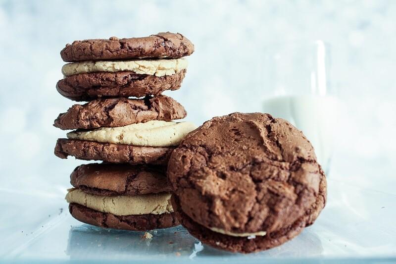 Peanut Butter Brownie Cookies Dozen