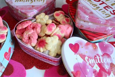 Valentine's Day Spritz Cookie Tins (2 1/2 Dozen)