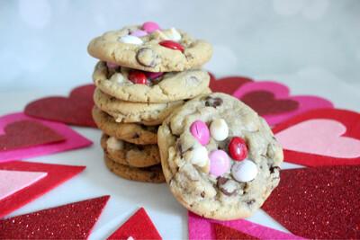 Valentine's Day Chocolate Chip Cookies 2 Dozen