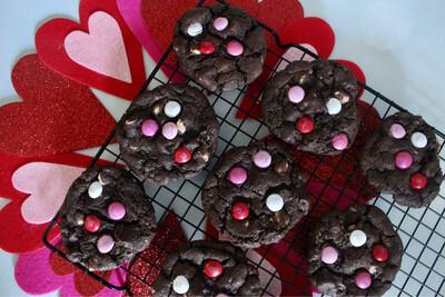 Valentine's Day Chocolate-Chocolate Chip Cookies 2 Dozen