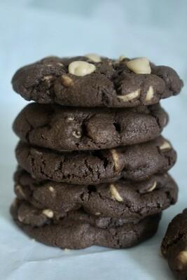 Double Chocolate Peanut Butter Chip Cookies 2 Dozen