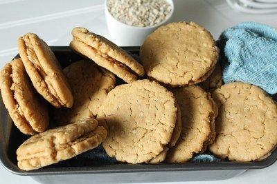 Jumbo Peanut Butter Sandwich Cookies Dozen
