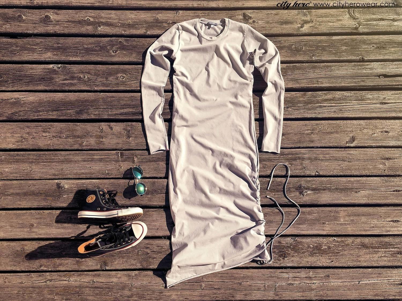 City dress CEMENT [DRESS]