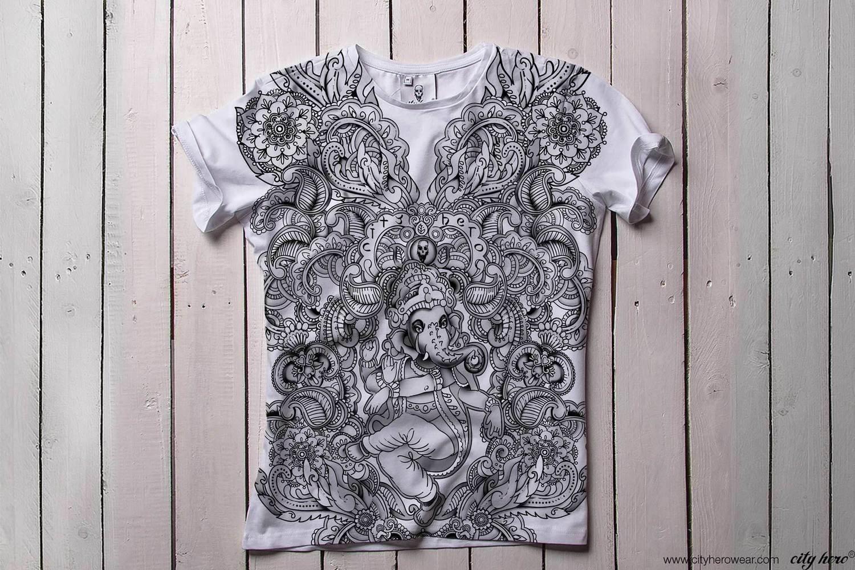 Ganesha`s garden B/W [ФУТБОЛКА МУЖСКАЯ]